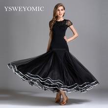 2019 YSWEYOMIC שחור מודרני חצאית רזה במותניים סלוניים שמלת ריקוד לאומי סטנדרטי ואלס טנגו תחרות סלוניים תחפושת שמלה עבור נשים ספרדית
