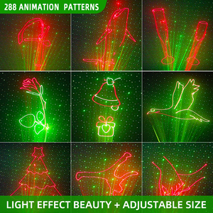 Image 2 - YSH DJ Disco Light 288 Pattern Animation Laser Projector Stage Light Effect Sound Activate Party Light for Wedding Vacation Club