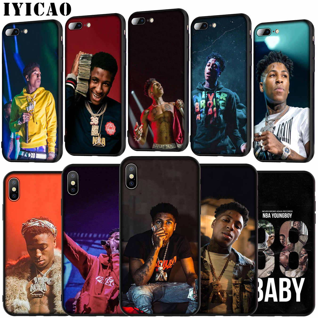 YoungBoy Nooit Gebroken Weer Hot zanger Soft Silicone Cover Case voor iPhone 11 Pro XR X XS Max 6 6S 7 8 Plus 5 5S SE Telefoon Case