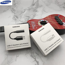 Original samsung usb tipo c fone de ouvido jack adaptador 3.5mm cabo de áudio para galaxy a60 a6s a80 a8s note10/10pro n9700