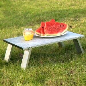 Image 2 - Aluminium Draagbare Tafel Tuinmeubilair Opvouwbaar Opvouwbare Camping Wandelen Bureau Reizen Outdoor Picknick mesa plegable