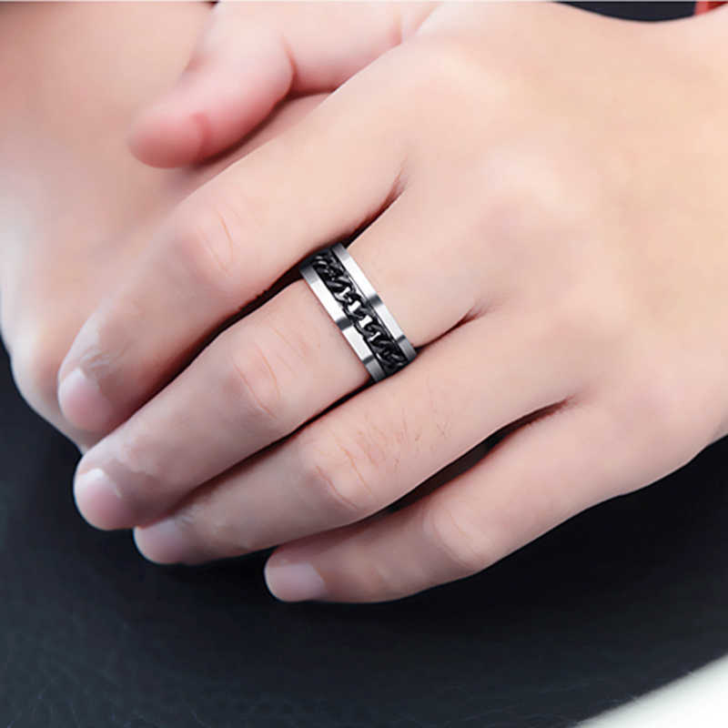 טבעת לגברים נשים טיטניום טבעות