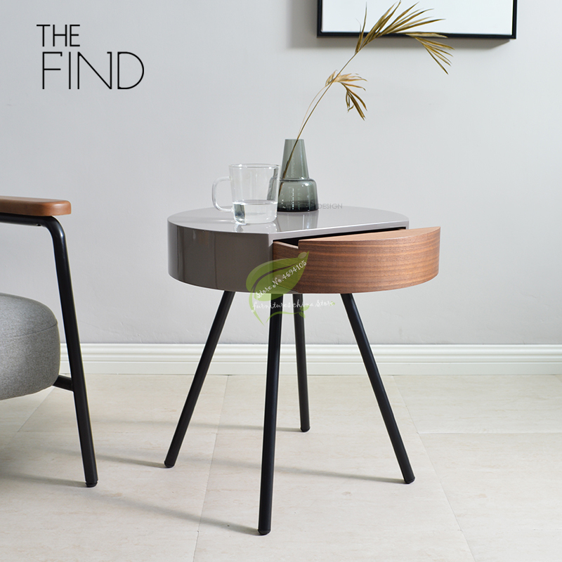 US $240.29 31% OFF|Nordic Modern Side Table Living Room Sofa Corner Coffee  Table Round Bedside Desk Creative Living Room Tray Table Furniture on ...