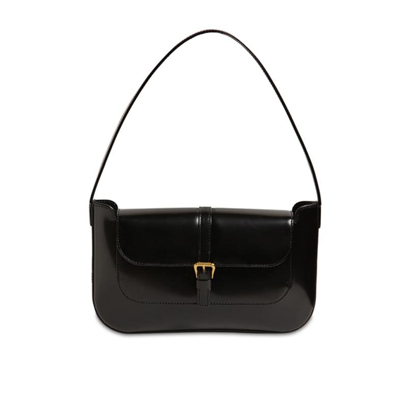 2019 Vintage Women Messenger Handbags Casual Solid Baguette Croosbody Shoulder Bags For Women 2019 Top-handle Bolsas Sac A Main