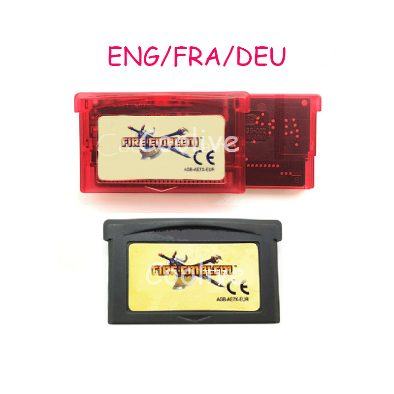 ENG FRA DEU Language Fire Emblem EUR Video Game Memory Cartridge Card for 32 Bit Console Accessories image