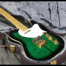 In Stock Fast Shipping TL Tuff Dog Electric Guitar Z-ZS1 Quilted Maple Top Green Color Delivery
