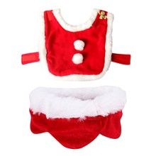 Pet Christmas Costume Cape For Dogs Cats Cute Dog Cat Plush Lace Santa Claus Cloak With Hat Red Adjustable Scarf Bib For Cats(China)