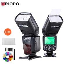 TRIOPO Высокоскоростная синхронизация с камерой, TTL и HSS, вспышка lite для цифровых зеркальных камер Canon и Nikon 6D 60D 550D 600D D800 D700