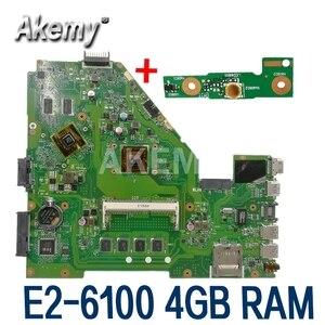 Image 1 - X550EP 마더 E2 6100 CPU 4GB RAM For Asus X550E X550EP X550E D552E X552E 노트북 마더 보드 X550EP 메인 보드 테스트 100% OK