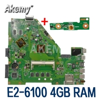 X550EP Motherboard E2-6100 CPU 4GB RAM Für For Asus X550E X550EP X550E D552E X552E Laptop motherboard X550EP Mainboard test 100% OK