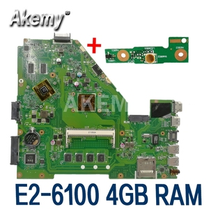 Image 1 - X550EP Motherboard E2 6100 CPU 4GB RAM Für For Asus X550E X550EP X550E D552E X552E Laptop motherboard X550EP Mainboard test 100% OK