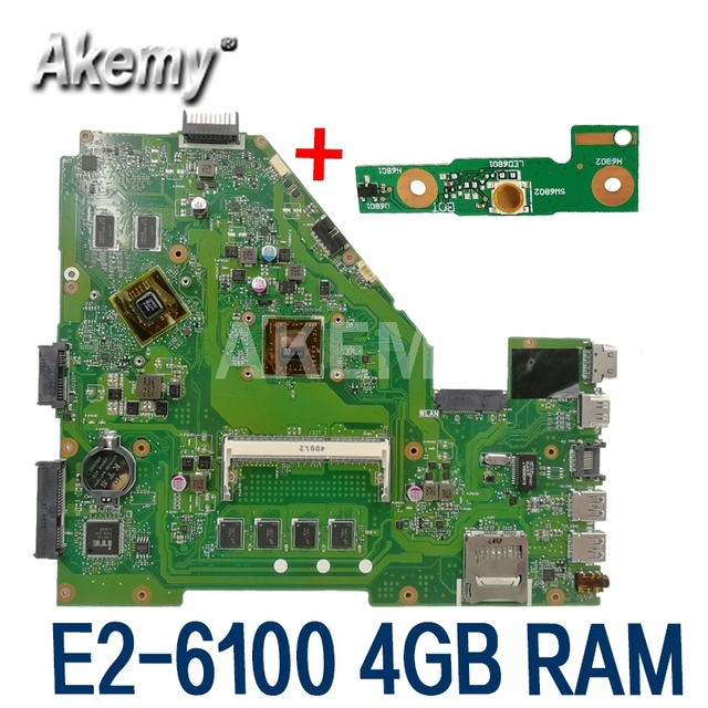 X550EP Motherboard E2 6100 CPU 4GB RAM Für For Asus X550E X550EP X550E D552E X552E Laptop motherboard X550EP Mainboard test 100% OK