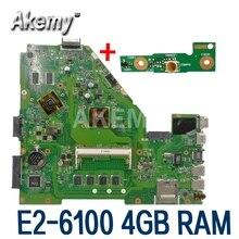 X550EP płyta główna E2 6100 CPU 4GB pamięci RAM dla For Asus X550E X550EP X550E D552E X552E laptopa płyty głównej płyta główna w X550EP płyty głównej płyta główna test 100% OK