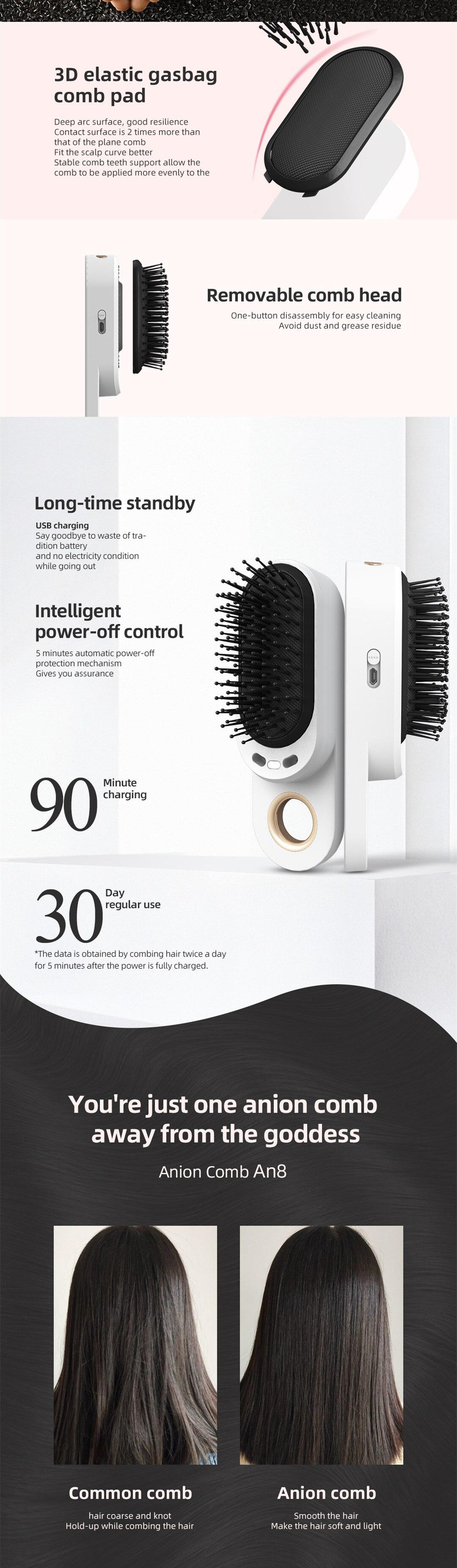 massageador shampoo escova de massagem elétrica vibração