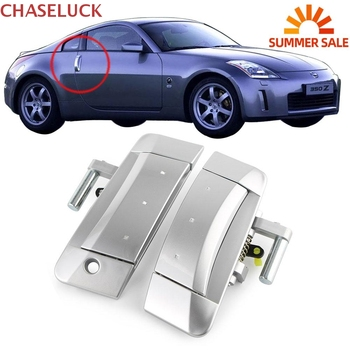 For Nissan 350Z 2003-2009 Left Right Outside Outer Door Handle Front Driver Passenger Exterior Handles Left Drive ONLY Silver for b2005 plus b3000plus left