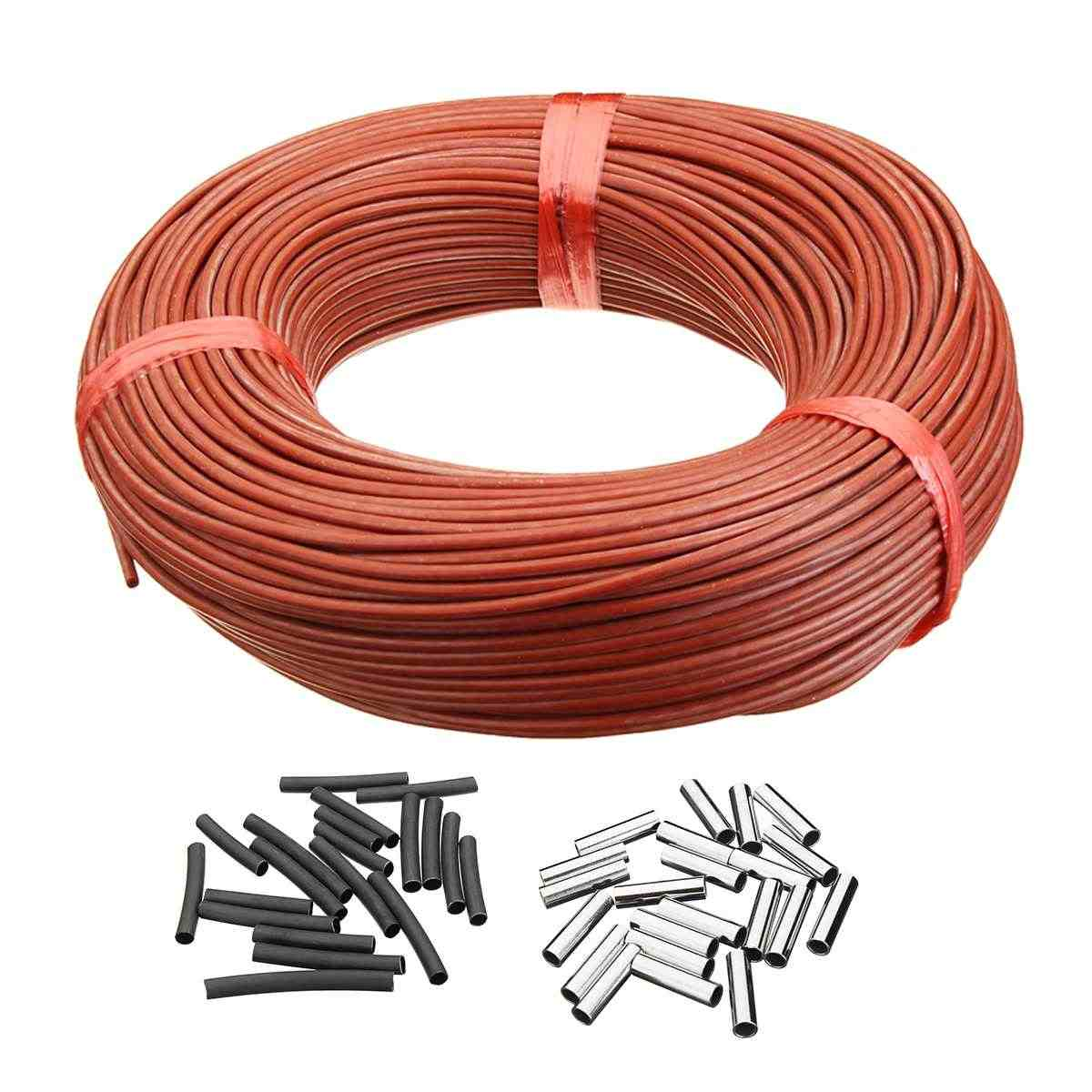 New 100M Heating Cable Warm Heater Wire Greenhouse Vegetables Farm Heating Equipment Home Floor warm 12k Carbon fiber heating wi