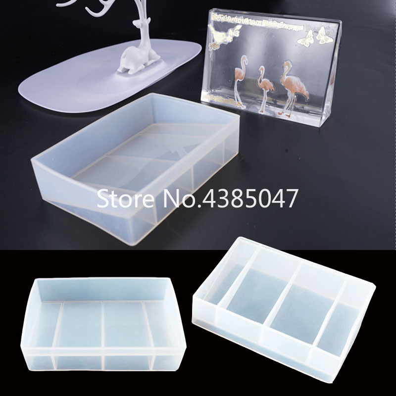 1PC Rectangle Photo Frame Mold Silicone Jewelry Tools Resin Molds UV Resin Pendant Mold