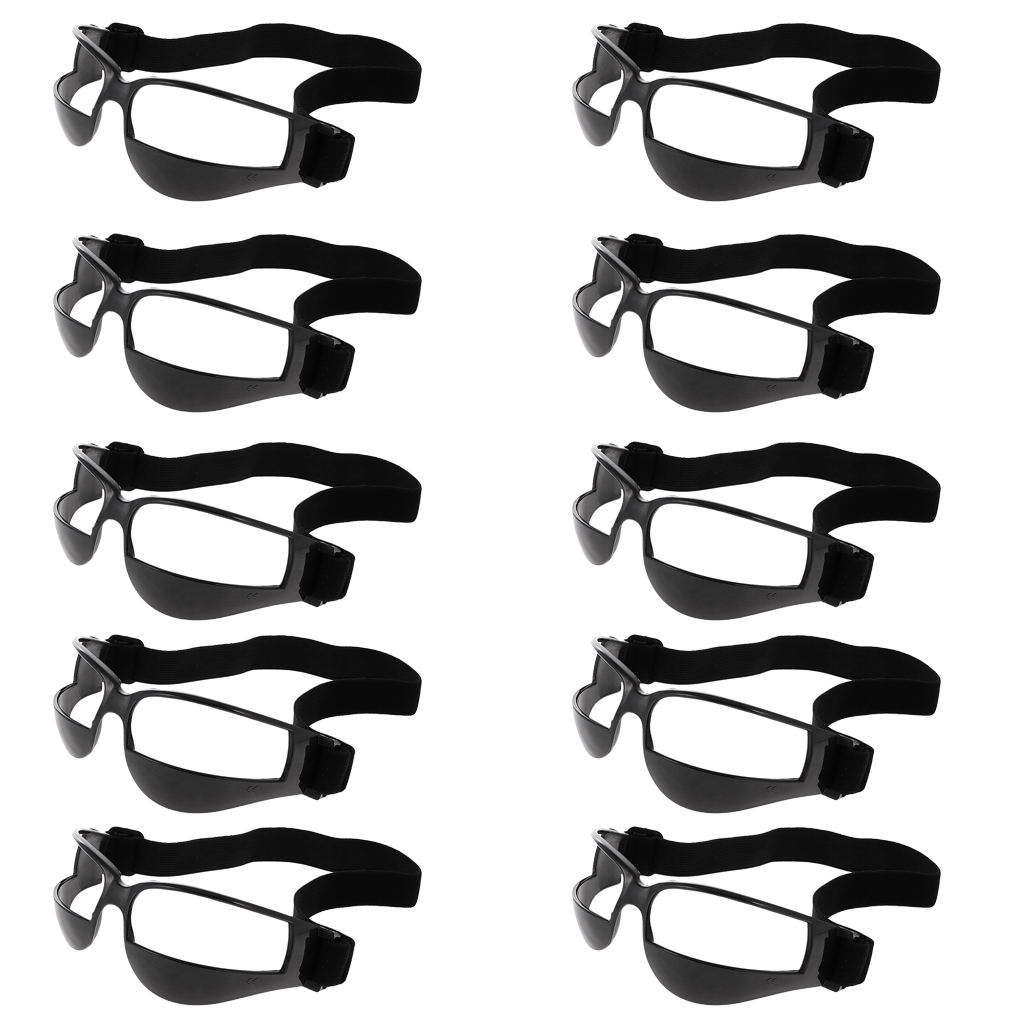 Pack Of 10 Sports Soccer Basketball Dribbling Glasses Eye Goggles Dribble Specs Training Aid Equipment For Youth Kids