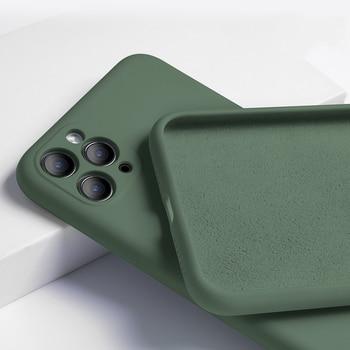For iPhone 11 Case Liquid Silicone Matte...