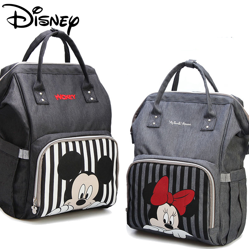 Disney Mummy Diaper Bag Mickey Mouse Backpack Maternity Nappy Bag Baby Travel Baby Bags For Mom Insulation USB Bottle Feeding
