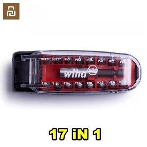 Image 1 - Youpin Wiha מברג Kit17 ב 1 ביטים ברגים מגנטי תנין פה צורת נייד כיס מברג סט תיקון כלי