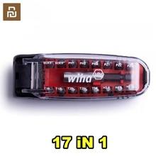 Youpin Wiha Schroevendraaier Kit17 In 1 Bits Wrench Magnetische Krokodil Mond Vorm Draagbare Pocket Schroevendraaier Set Reparatie Tool