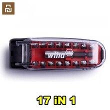 Youpin wiha chave de fenda kit17 em 1 bits chave magnética crocodilo forma da boca bolso portátil conjunto ferramenta reparo