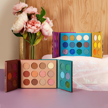 Sequins Matte Double door Eyeshadow Power Palette Shimmer Lasting Makeup Pigment Private Label