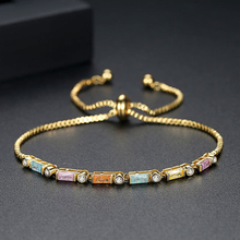 LBJIE Fashion Jewelry Gold Color Plated AAA Cubic Zirconia Bracelet Women Elegant Chain Link Adjustable Bracelets lbjie fashion jewelry gold color plated aaa cubic zirconia bracelet women elegant chain link adjustable bracelets