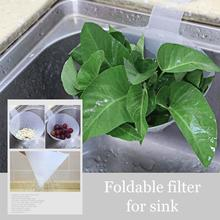 Foldable Filter Simple Sink Self-Standing Stopper Anti-Blocking Device Suction Cup Drain Bag