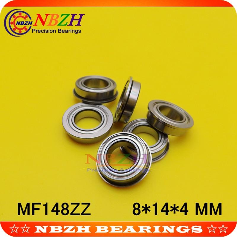 8mm*14mm*4mm 5 x MF148zz Mini Metal Double Shielded  Flanged  Ball Bearings