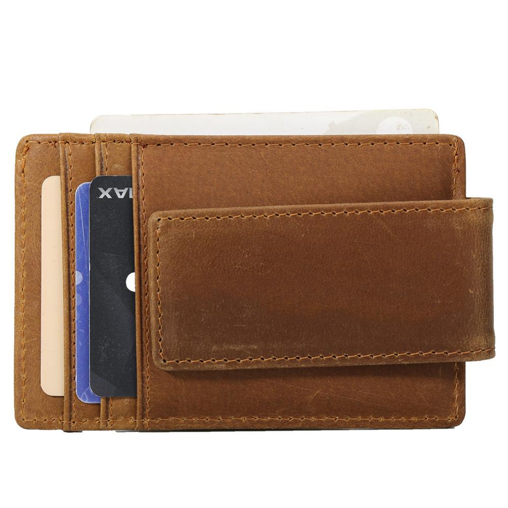 Vintage Mens Genuine Leather RFID Blocking Wallet Credit Card Holder Coin Purse