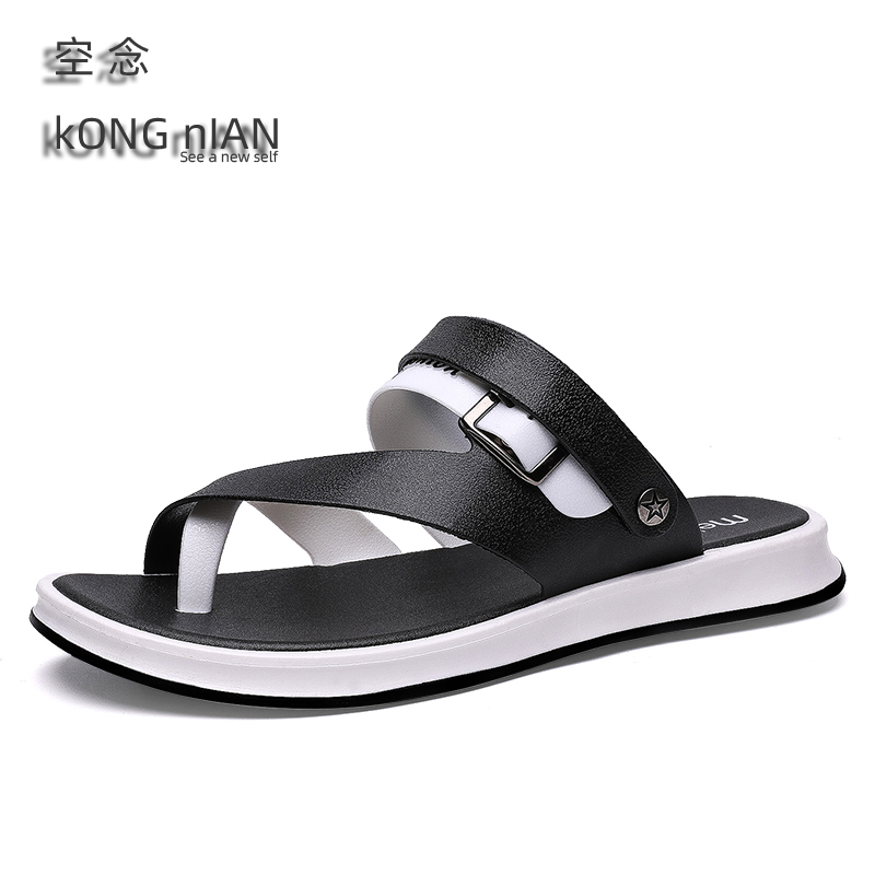 2020 Fashion Summer Sandals Men Shoes Black Red Bule Men Sandals Leather Outdoor Sandals Men's Shoes With Flat Driving Shoes