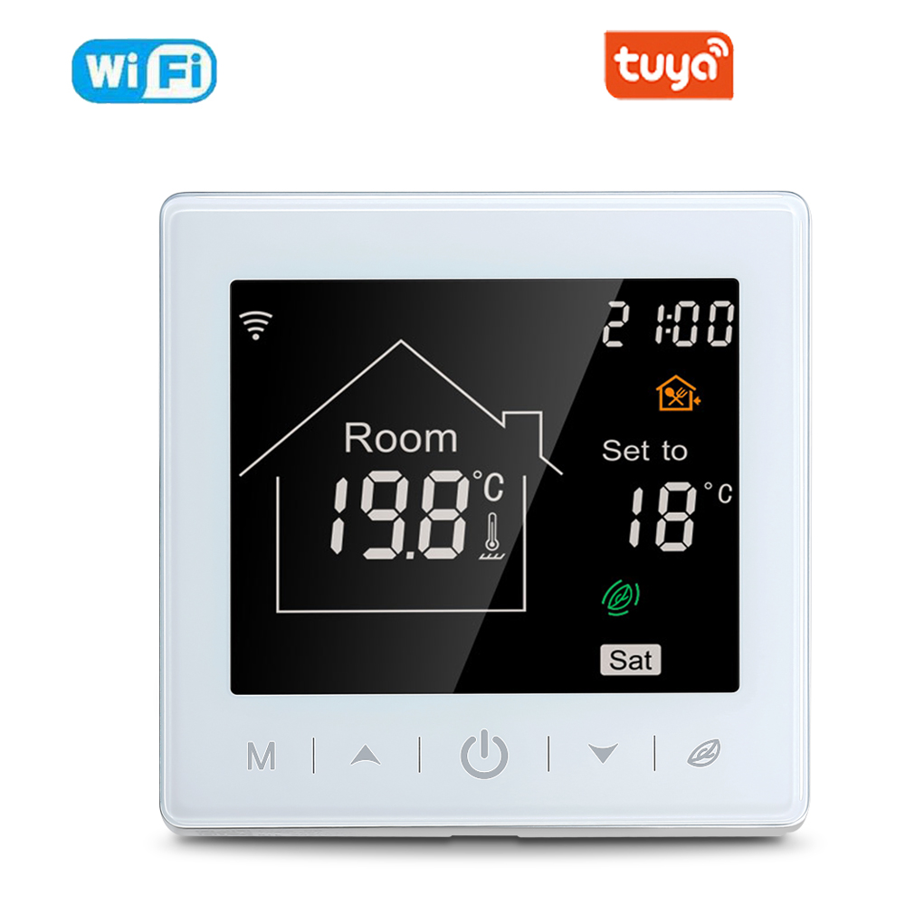 Tuya Smart Wifi Thermostat Temperature Remote Controller For Water Eletrical Heating Support Google Home Alexa