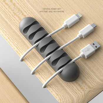 Smart Cable Winder Flexible Silicone Cord Management Cable Holder Clips for USB Cable Mouse Headphone Earphone Network Cable