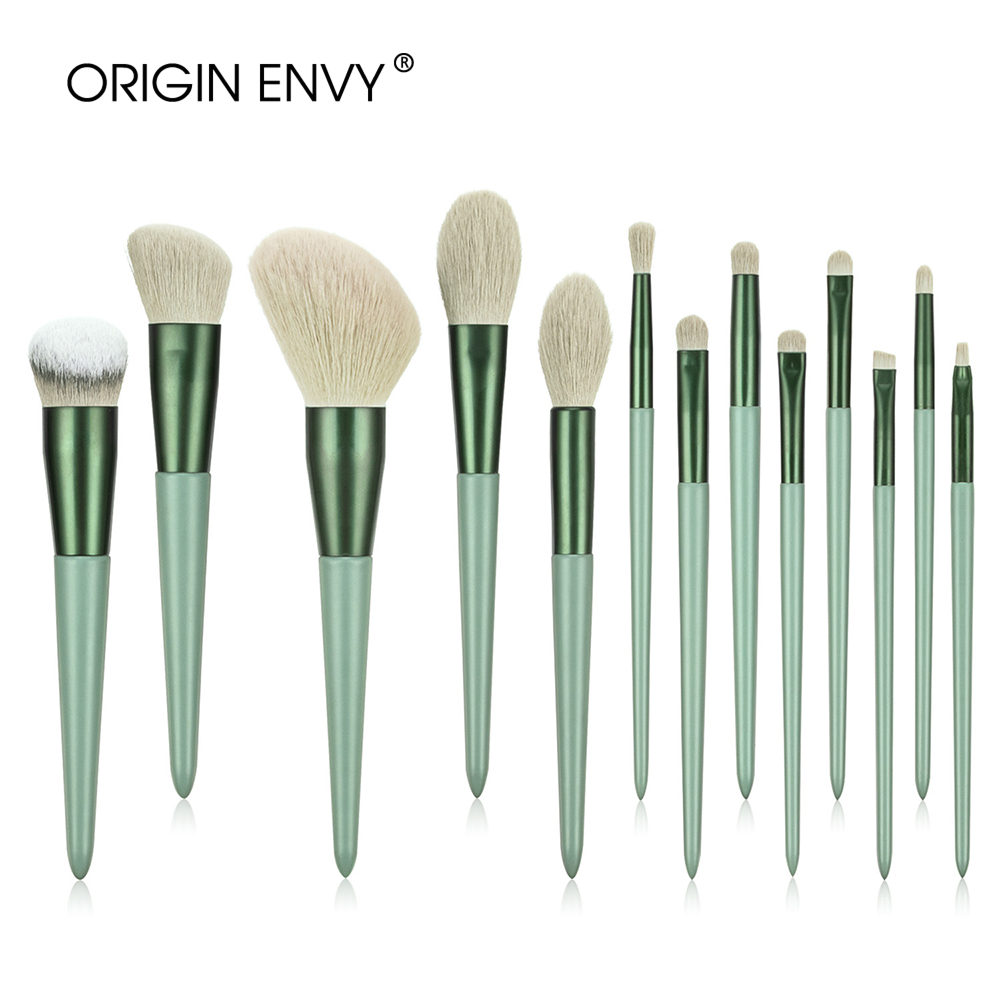 ORIGIN ENVY 13Pcs Chinese Holly High-end And High-quality Makeup Set Brushes Loose Powder Brushes Eye Brushes Beauty Tool Beauty
