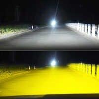 BraveWay 3000K + 6500K bombillas Led para faros de coche H7 LED H4 H8 H9 H11 Dual LED Auto lámpara múltiples luces antiniebla bombillas de motocicleta