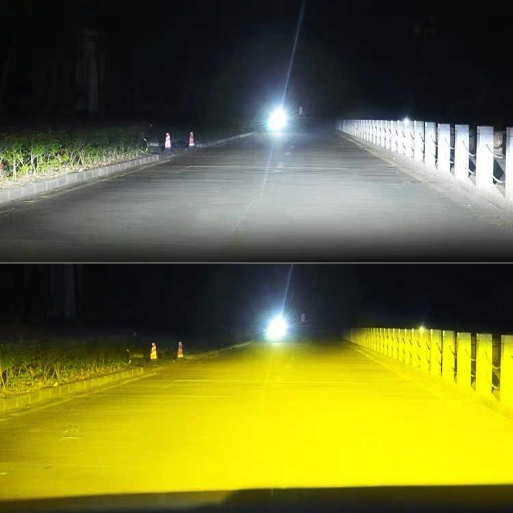 Braveway 3000K + 6500K LED Mobil Lampu Lampu H7 LED H4 H8 H9 H11 Dual LED Auto Lampu beberapa Warna Lampu Kabut Motor Lampu