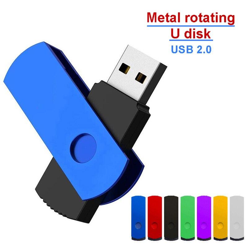 USB флеш-накопитель 128 Гб металлический Флешка USB 2,0 карта памяти 64 Гб ручка-накопитель реальная емкость 32 Гб USB флешка 512 ГБ usb диск 256 ГБ