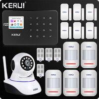 KERUI W18 WIFI GSM SMS Home Burglar Security Alarm System Curtain Motion Sensor Wifi IP Indoor Camera