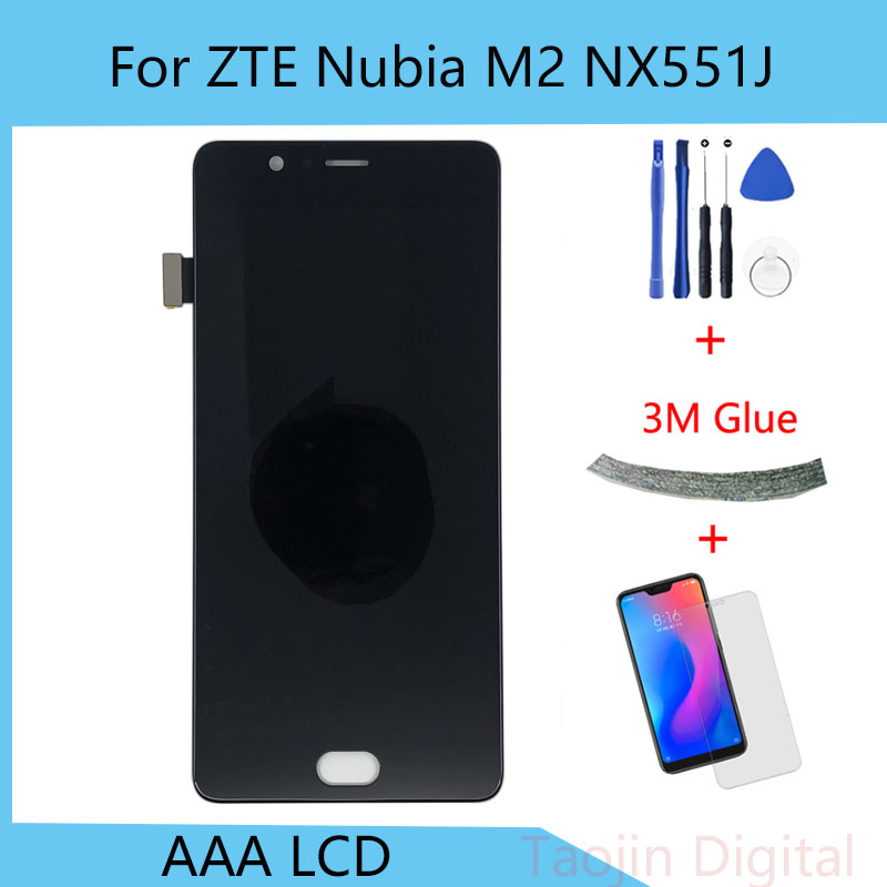 """For 5.5"""" ZTE nubia M2 NX551J LCD Display Touch Screen Digitizer Assembly Replacement Parts(China)"""