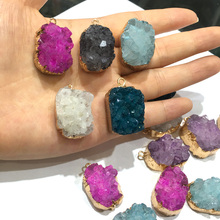 Charms Necklace Pendants for Jewelry Making  Irregular Shape Natural Stone Crystal Cluster DIY Accessories
