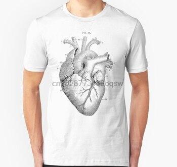 Camiseta de manga corta con corazón anatómico Unisex para hombre
