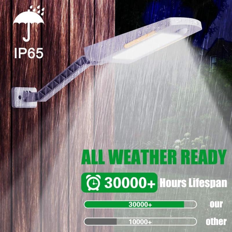 2 Pack Solar Lights Outdoor, 48 LED Adjustable Security Lighting Wireless Motion Sensor Light IP65 Waterproof For Yard, Garage,