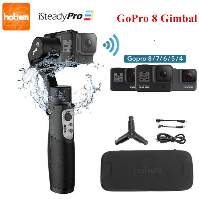 3 Axis Gimbal Stabilizer for GoPro 8 Action Camera Handheld Gimbal for Gopro Hero 8,7,6,5,4,3, Osmo Action Hohem iSteady Pro 3