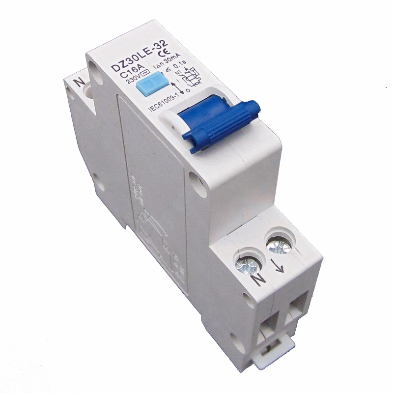 RCBO 16A 30ma 1P+N Residual Current Circuit Breaker With Over Current Protection