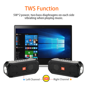 Tragbare Wireless Bluetooth Lautsprecher Super Bass Stereo Subwoofer Unterstützung TWS TF AUX /USB/AUX/ FM Empfänger Radio mit taschenlampe