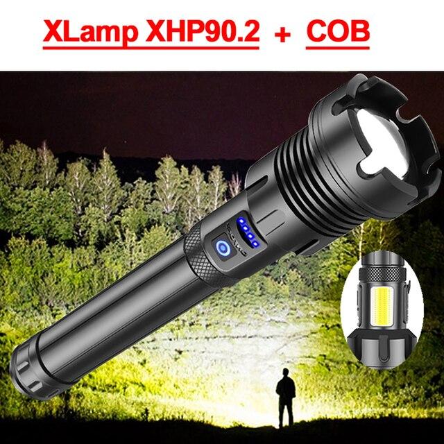 600000LM XHP90.2 haute puissance lampes de poche Led XHP90 lampe de poche la plus puissante torche XHP70.2 lampe de poche tactique Usb lampe de poche Rechargeable