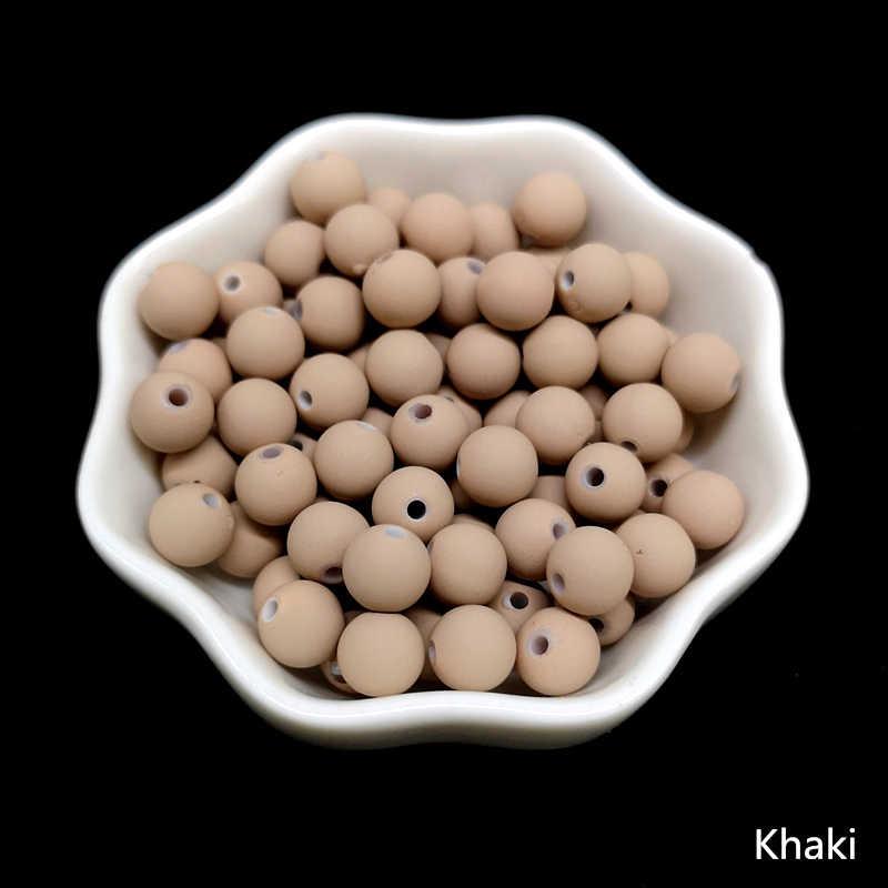 50 piezas 8mm perlas encanto de Ronda suelta perlas espaciador de cuentas de acrílico para la fabricación de la joyería DIY