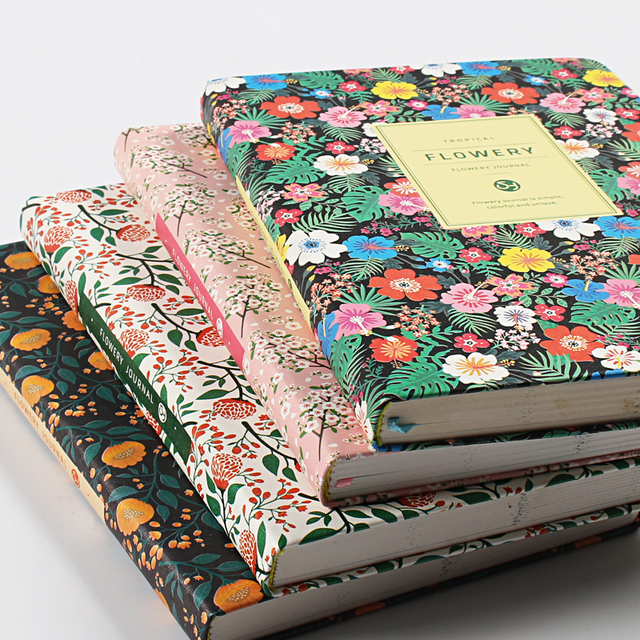 Cute Flowers Leather Notebook Diary Weekly Planner Agenda 2020 Notepad Mini Small Bullet Journal Stationery Filofax Organizer A5 4